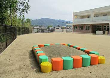 園庭の写真